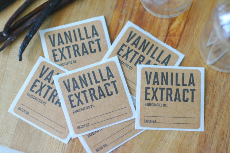 vanilla extract sticker labels