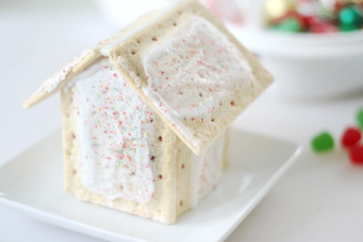 pop tarts frosted together to look like a house