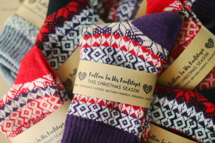 nordic socks with printable tag