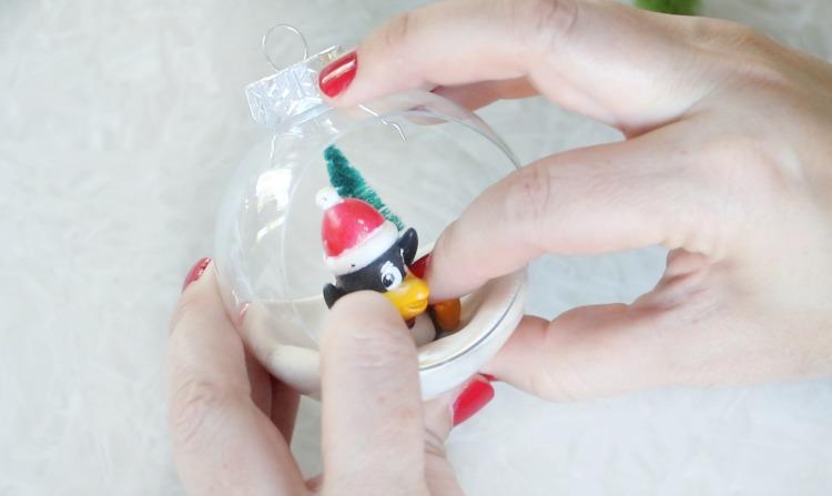 pressing penguin into white model magic
