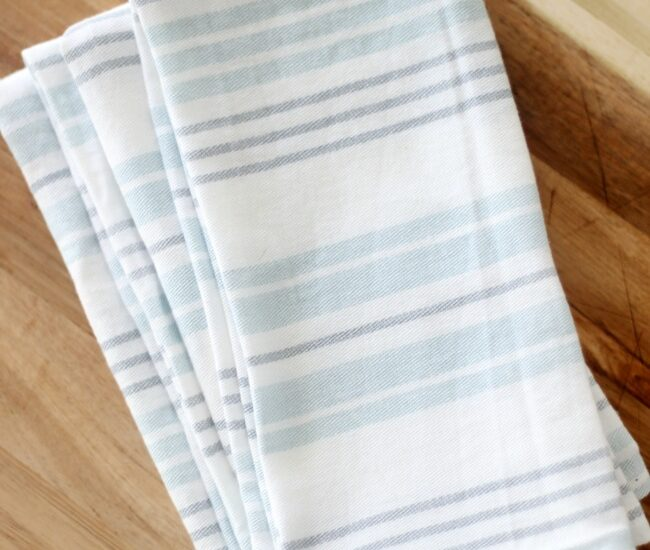 cloth napkins folded on table