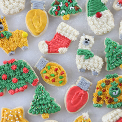 tray of kid decorated sugar cookies