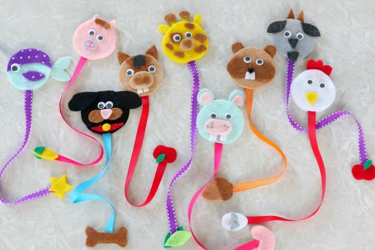 9 animal bookmarks
