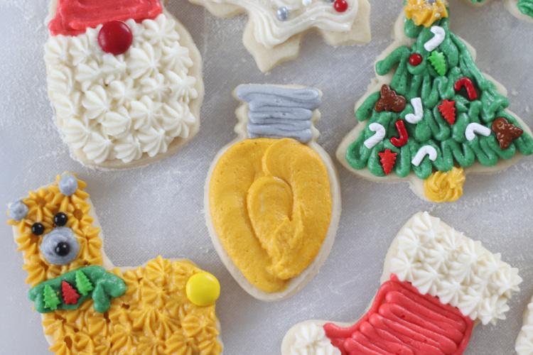 sugar cookies decorated by kids