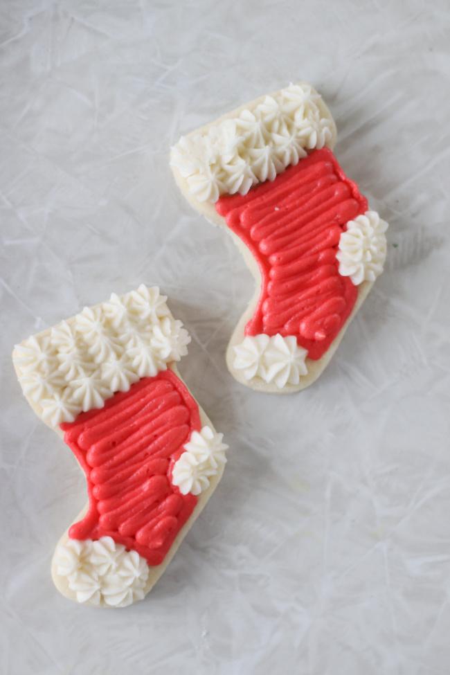 stocking sugar cookies