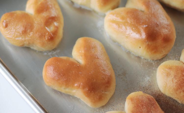 baked rolls on baking sheet