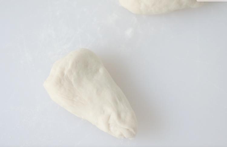 triangle shape of dough