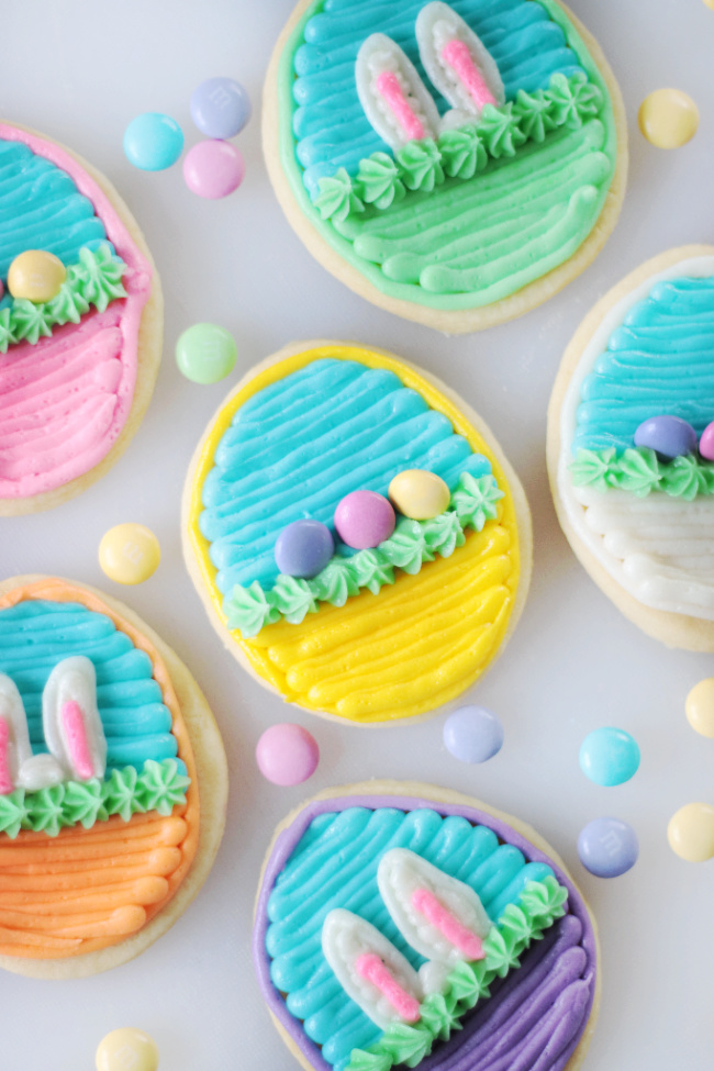 easter basket sugar cookies