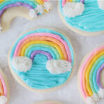 5 frosted rainbow cookies