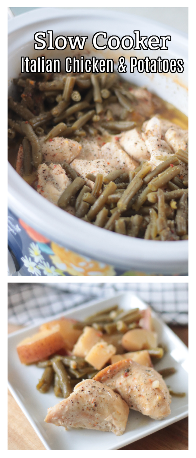 chicken and green beans in slow cooker