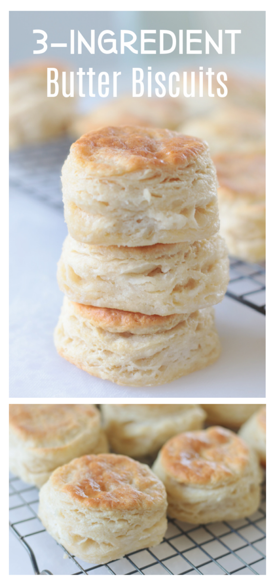 stack of 3-ingredient biscuits