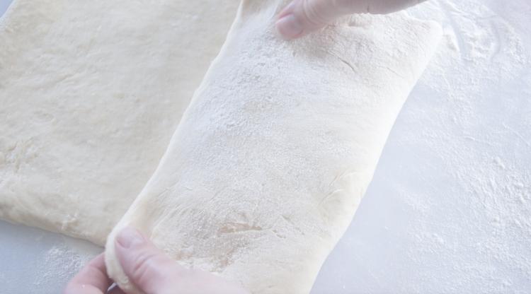dough folded over like a letter