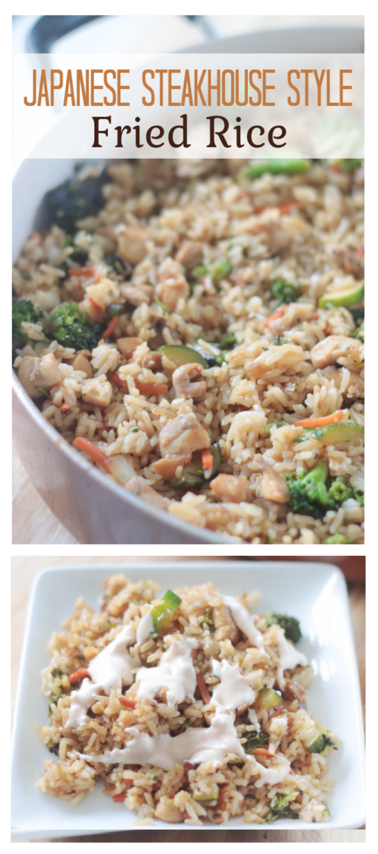 pan and plates of fried rice