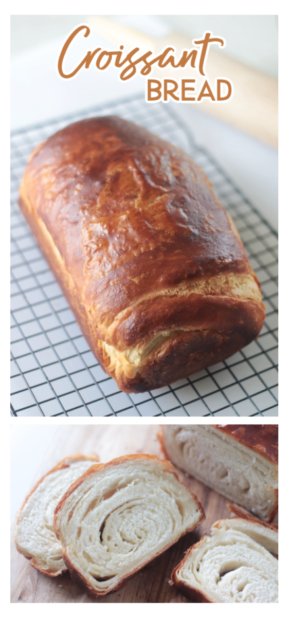 loaf and slices of croissant bread