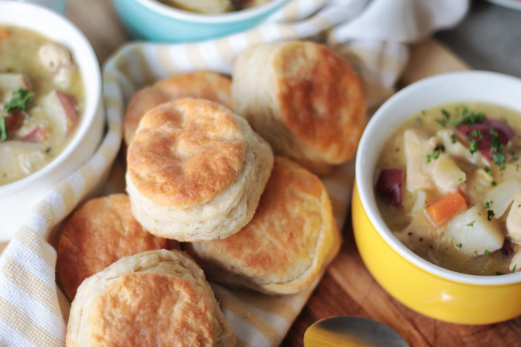 pile of homemade biscuits