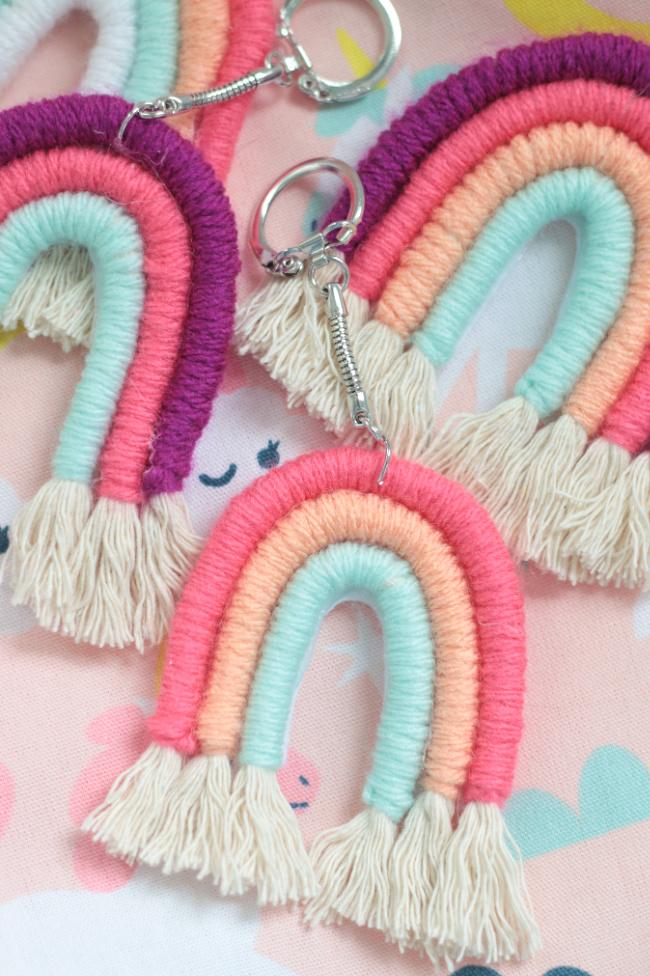 yarn wrapped rainbow crafts