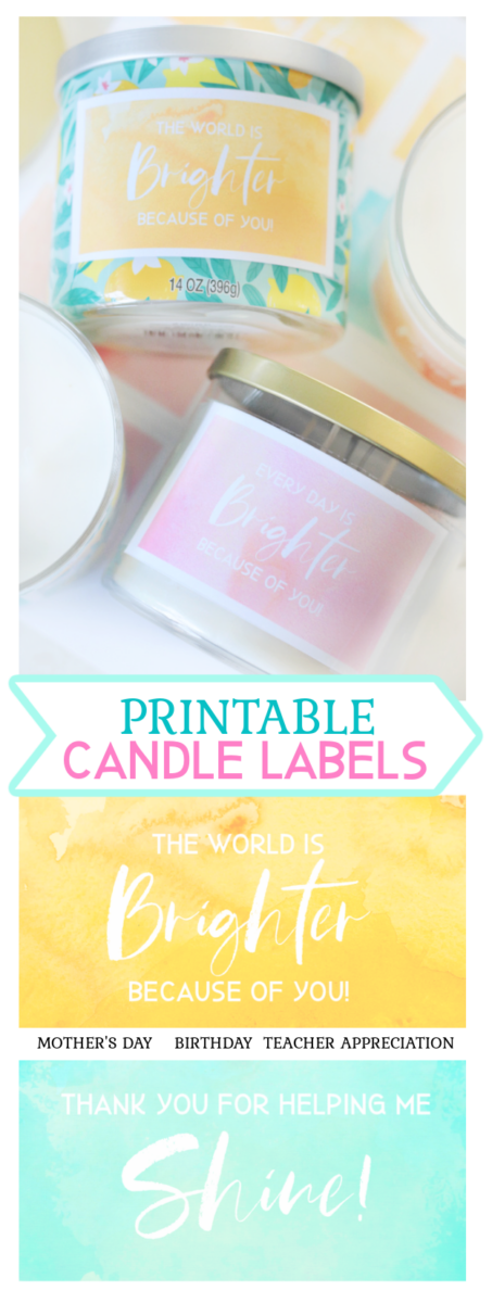 printable candle labels