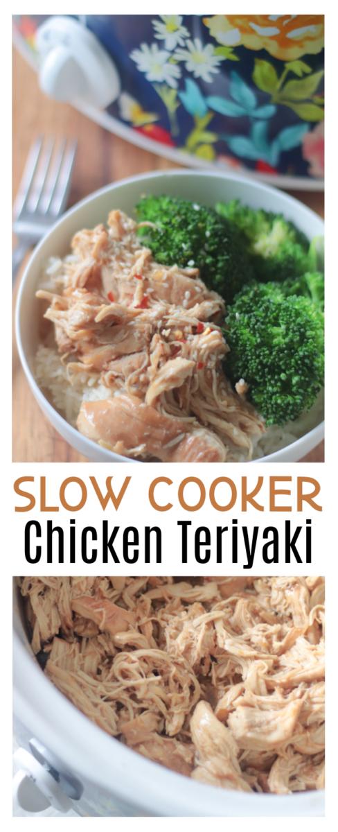 slow cooker chicken teriyaki in bowl