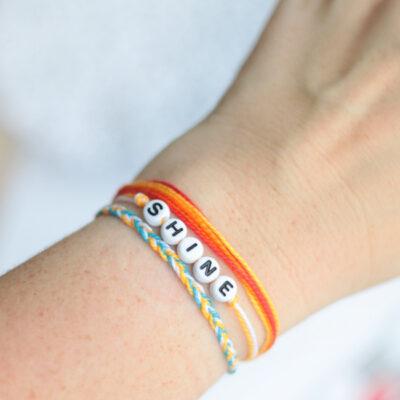 3 easy friendship bracelets wrapped around wrist