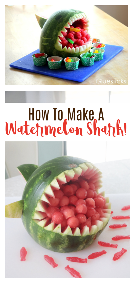 watermelon shark on platter