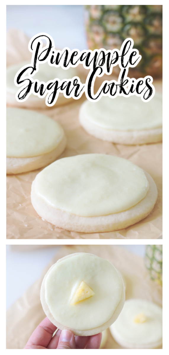 pineapple sugar cookies with frosting
