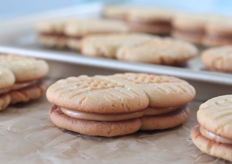 peanut cookie on parchment paper