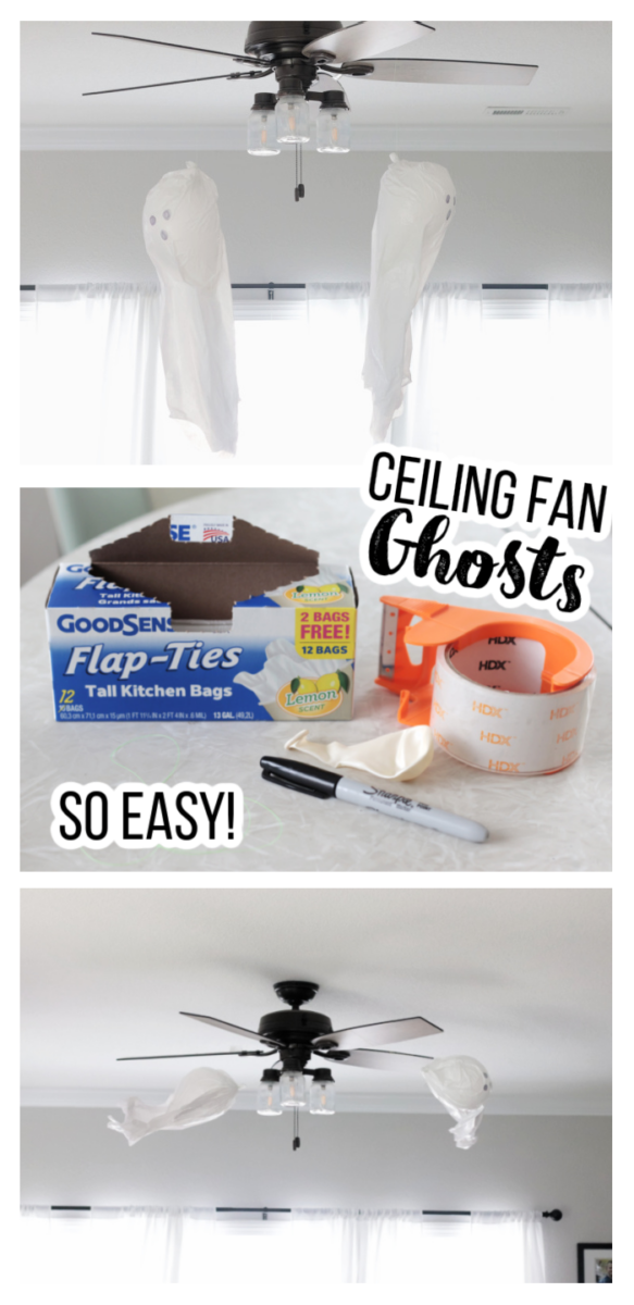ceiling fan balloon ghosts and supplies