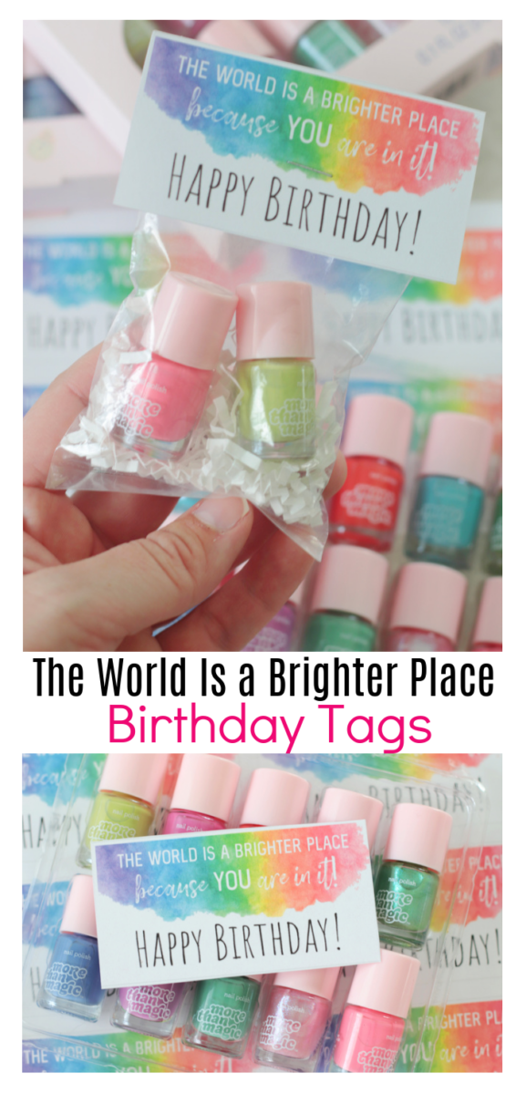 printable birthday tags for young women