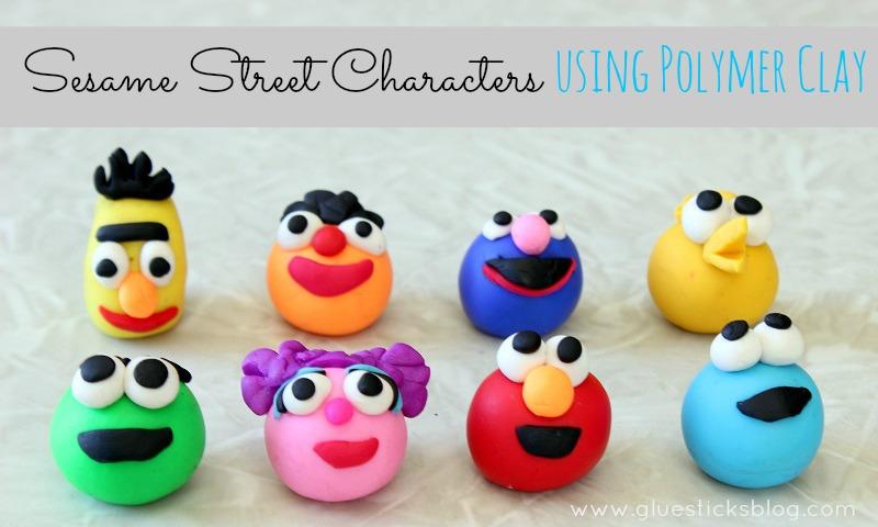 Sesame Street Characters Using Polymer Clay Gluesticks