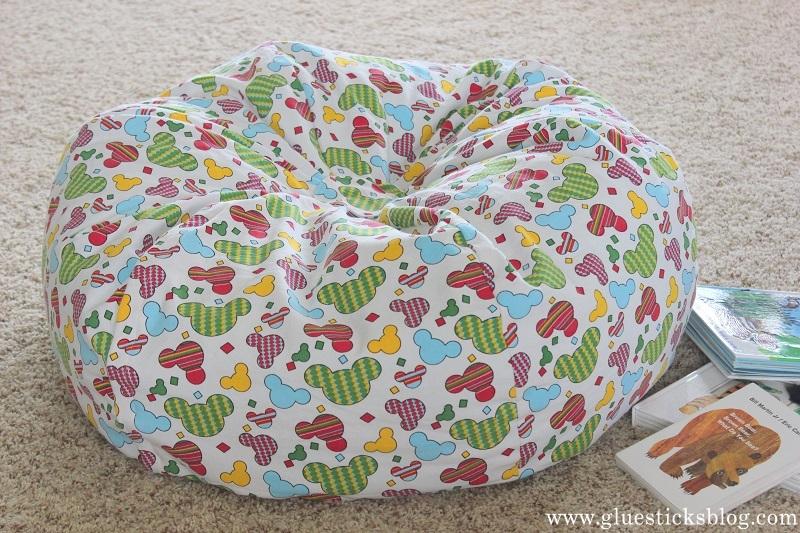 Homemade Bean Bag Chair Gluesticks