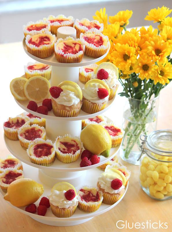Lemon Raspberry Themed Desserts | Gluesticks