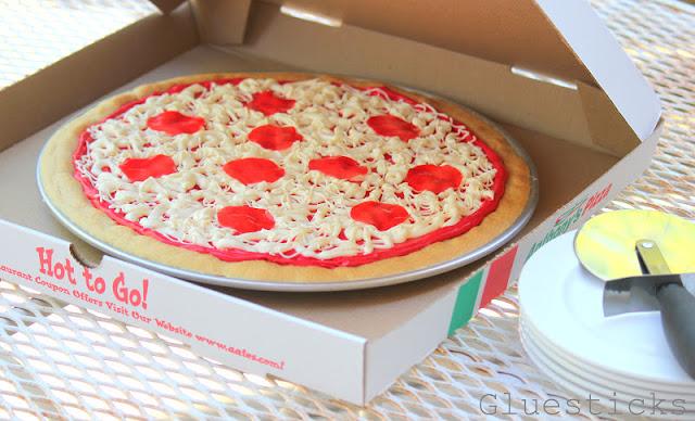 Pepperoni Pizza Birthday Cake Cookie Gluesticks
