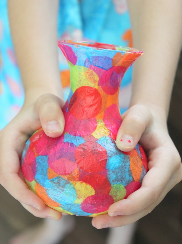 Kids Craft Mod Podge Vases