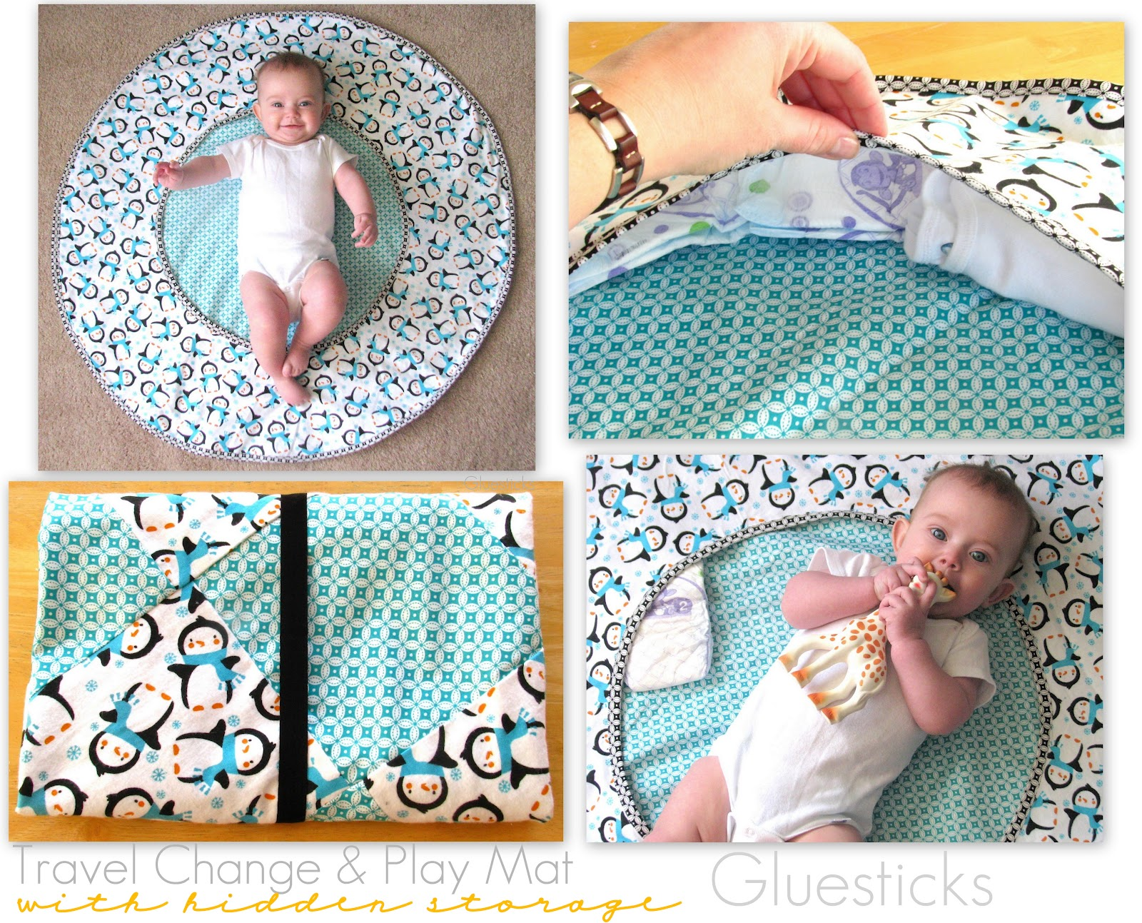 Baby Gift Ideas To Make At Home : Travel diaper changing and playtime mat tutorial gluesticks
